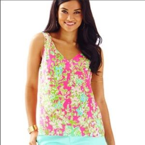 Lilly Pulitzer CIPRIANI Southern Charm Silk Tank S